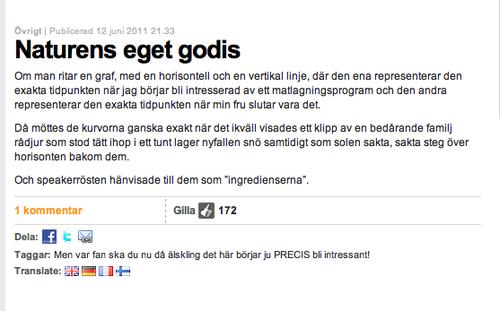 Fredrik Backmans matematikinlägg